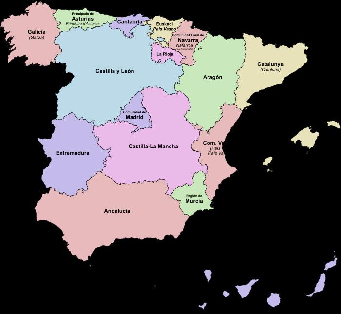 Indeling Deelstaten