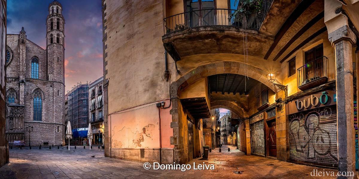 Iglesia De Santa Maria Del Mar (Barcelona) – Foto Domingo Leiva