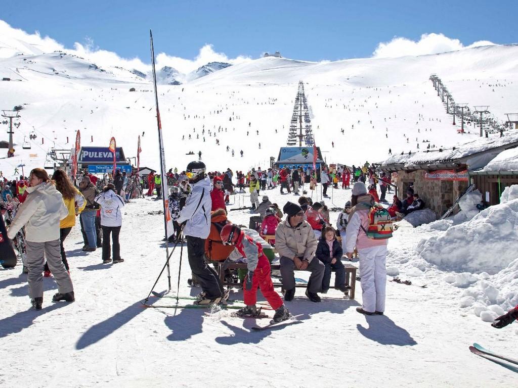 Skiën In Sierra Nevada (Granada, Andalusië)