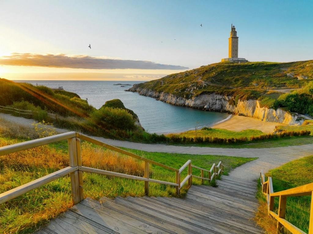 Torre De Hercules, A Coruña. Galicië – Foto TravelNast