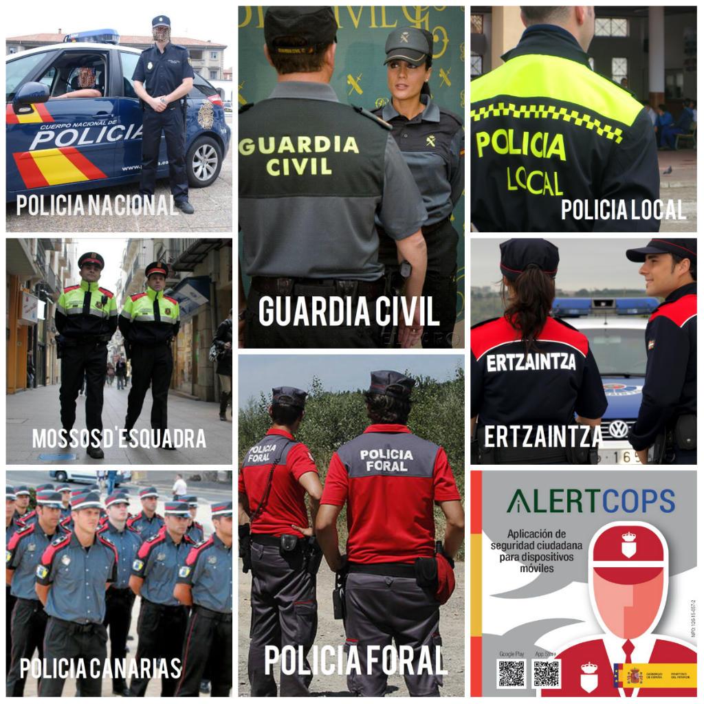 Collage Politie Spanje